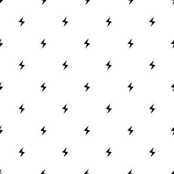 Vector seamless pattern, lightning