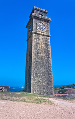 Old Clock Tower At Galle Dutch Fort , Sri Lanka