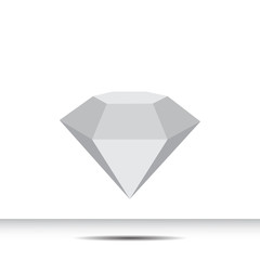 Crystal gray on a white background with shadow on the field