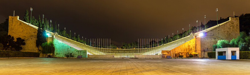 Panathenaic Stadium in Athens at night - Greece