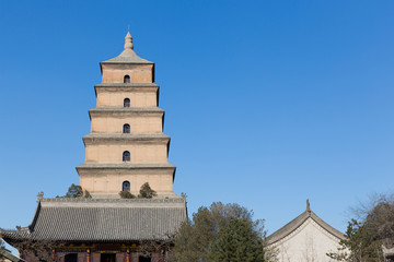 Photo sur Plexiglas Xian Giant Wild Goose Pagoda in southern Xi'an, Shaanxi province, Ch
