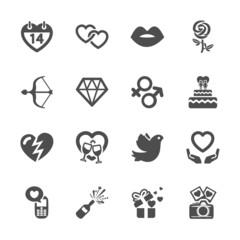 love and valentine icon set 10, vector eps10