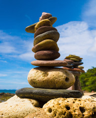 Stone Tower Balance in Harmony
