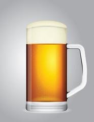vector mug of beer