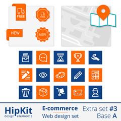 E-commerce web design elements extra set 3
