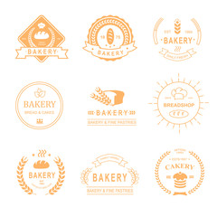 set of bakery and bread shop logos, labels, badges  design