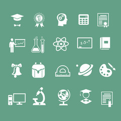 school signs, icons,