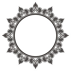 round decorative frame with Greek ornament