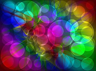 Colorful fractal shine, digital artwork