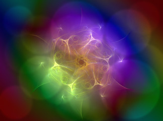 Abstract fractal wreckage, digital artwork