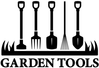 icon with set garden tools