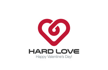 Heart Logo vector design template. Infinite Love concept
