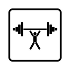 weightlifter lifts weight isolated vector