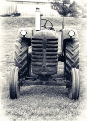 An Old Farm Tractor - Lightly Toned