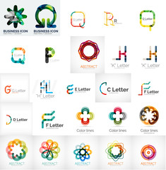 Set of universal company logos and design elements