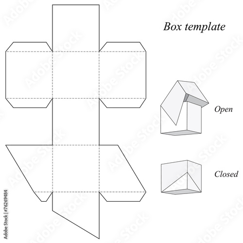 Quot Square Box Template With Lid Quot Stock Image And Royalty