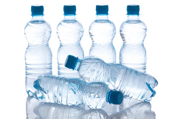 Bottles with water