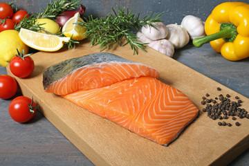 filetti di salmone fresco