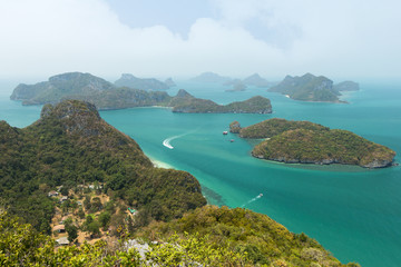 Archipelago at the Ang Thong National Marine Park in Thailand
