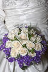 Bride holding a beautiful bouquet