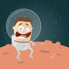astronaut mars weltall cartoon