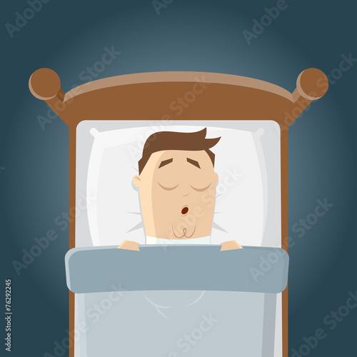 Schlafen tr umen cartoon lustig bett stockfotos und for Bett schlafen