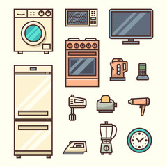 Home appliances. Vector illustration.