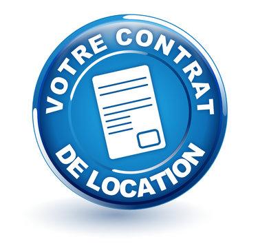 contrat de location sur bouton bleu