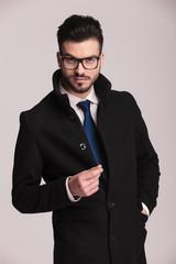 Studio shot of a young elegant business man