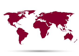 World Map on a white background
