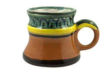 Old clay beer mug