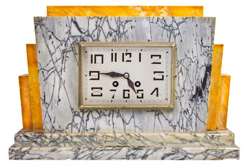 Art deco design marble clock from the early twentieth century