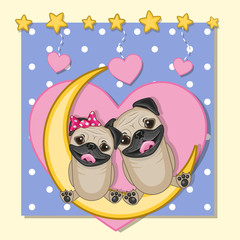 Lovers Pug Dogs