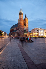 Autocollant pour porte Cracovie St Mary Basilica in Old Town of Krakow