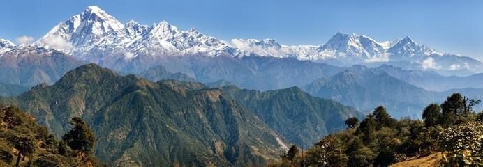 Wall Murals Nepal Dhaulagiri and Annapurna Himal - Nepal