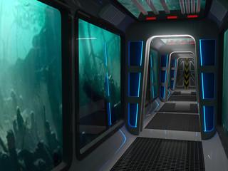 underwater  the tunnel