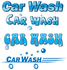 car wash symbol set isolated on white