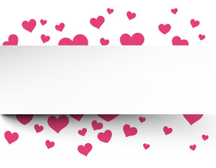 Fototapete - Valentine's background with pink hearts.
