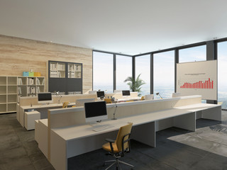 Large bright open-plan commercial office