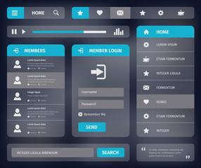 vector mobile web UI template design