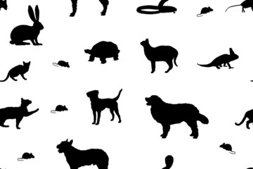 sap14 SeamlessAbstractPattern - pet shop - various pets - g3014