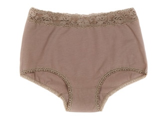 beige panties. Isolate on white background.