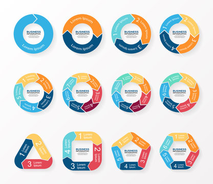 Circle arrows infographics, diagram, graph.