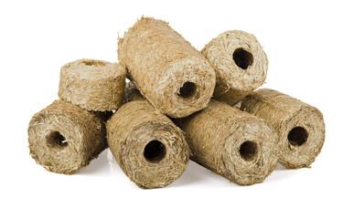 Briquette of straw
