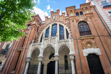 Tipical Church on a sunny spring day in Madrid