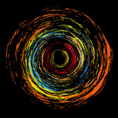 abstract plasma color circle vector
