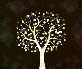 beautiful tree design background