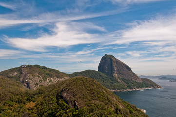 Scenic view of Rio de Janeiro with Sugarloaf Mountain