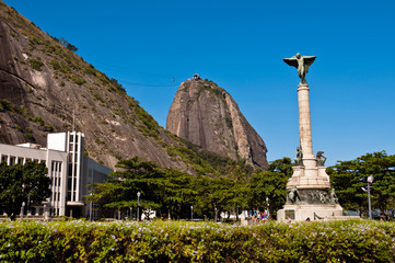 General Tiburcio Square with View of Sugarloaf Mountain