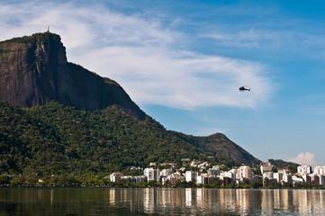 Rodrigo de Freitas Lake with Corcovado Mountain in the Horizon
